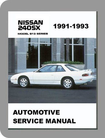 1991 to 1993 Nissan 240SX Full Service Manual