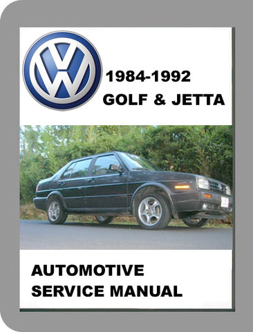 1984 to 1992 Volkswagen Jetta Full Service Manual
