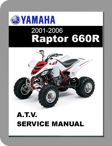 2001 to 2006 Yamaha Raptor 660R Full Service Manual