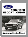 1982 to 1988 Ford Escort Full Service Manual