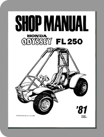 1981 Honda Odyssey FL250 Full Service Manual