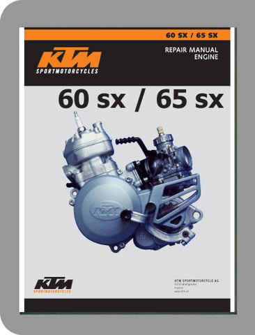 1998 to 2004 KTM 60 / 65 SX Full Engine Service Manual