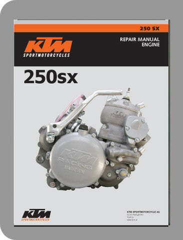 1999 to 2003 KTM 250 SX Full Engine Service Manual