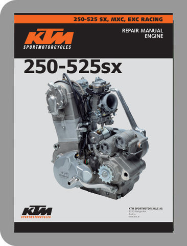 1999 to 2003 KTM 250 - 525 RFS Full Engine Service Manual