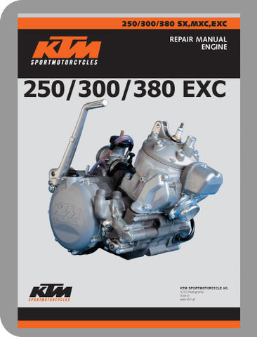 1999 to 2003 KTM 250 - 380 EXC Full Engine Service Manual