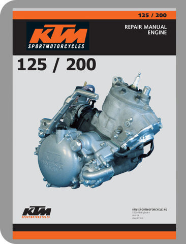 1999 to 2003 KTM 125 / 200 Full Engine Service Manual