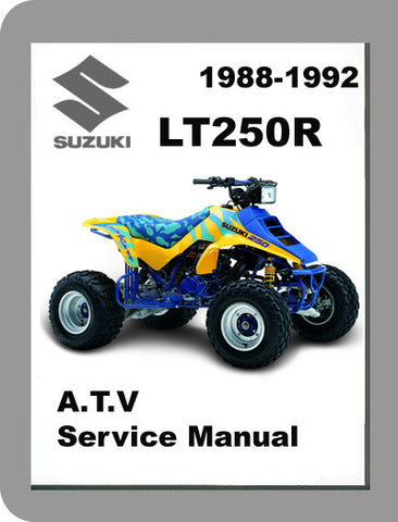 1988 to 1992 Suzuki LT250R Full Service Manual