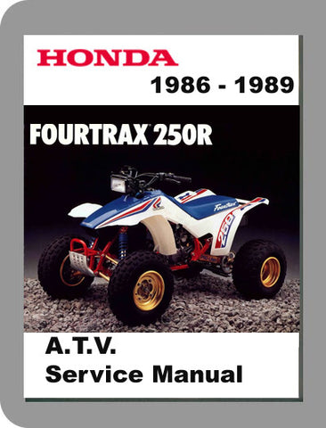 1986 to 1989 Honda TRX250R Full Service Manual
