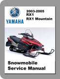 2003 to 2006 Yamaha RX1 Full Service Manual