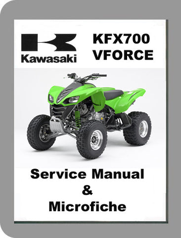 2004 to 2006 Kawasaki KFX700 Vforce Service Manual & Microfiche