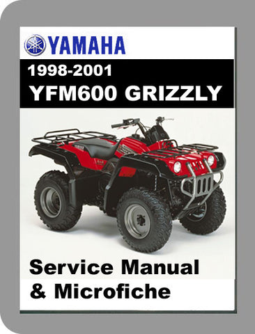 1998 to 2001 Yamaha YFM600 Grizzly Service Manual & Microfiche