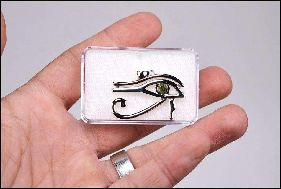 Eye of Horus Pendant | Moldavite Gemstone - InnerVision Crystals