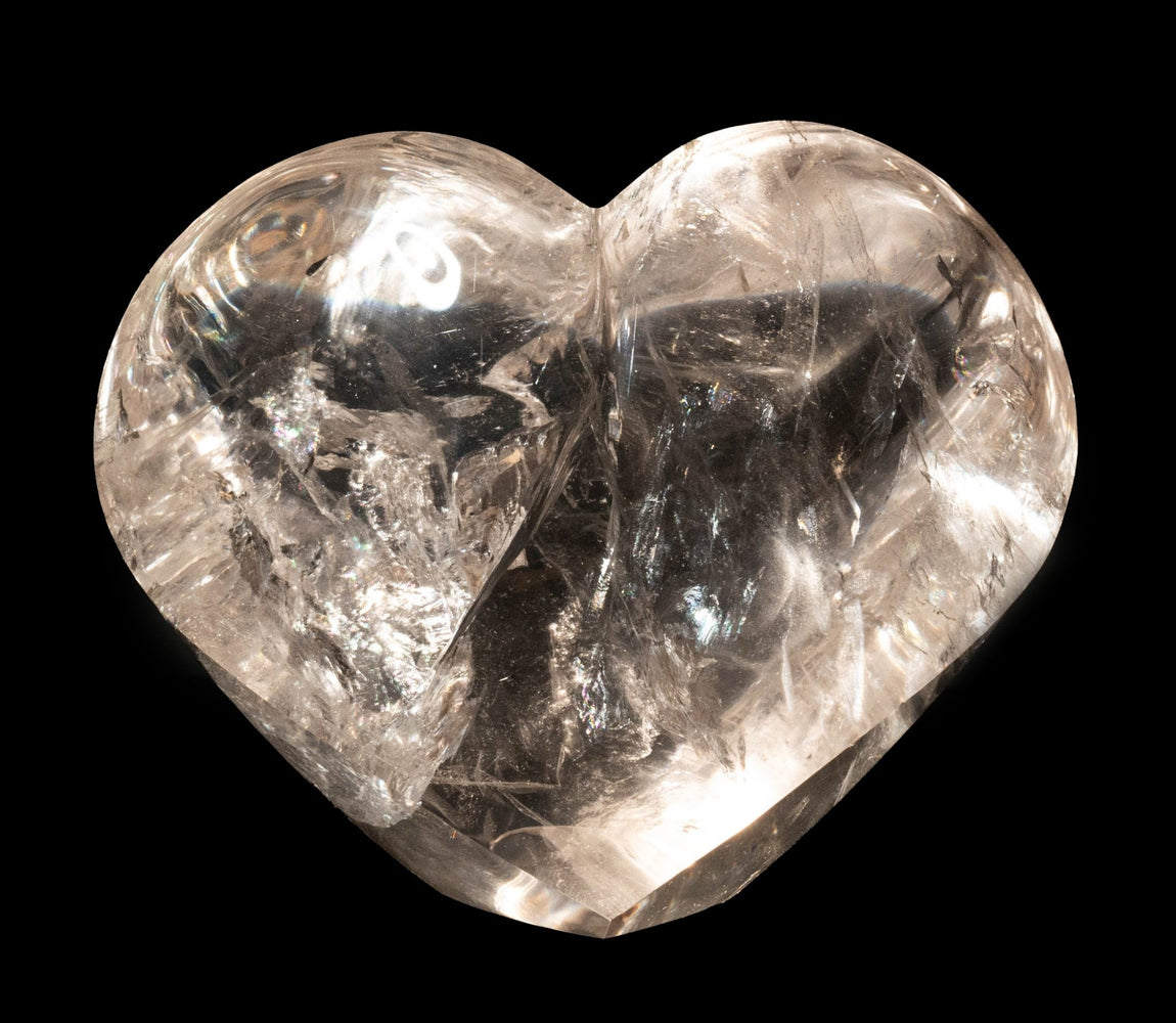 Polished Quartz Heart 970 g 121x99mm - InnerVision Crystals