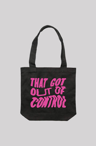 Out Of Control Tote Bag. (5 Colours Available)