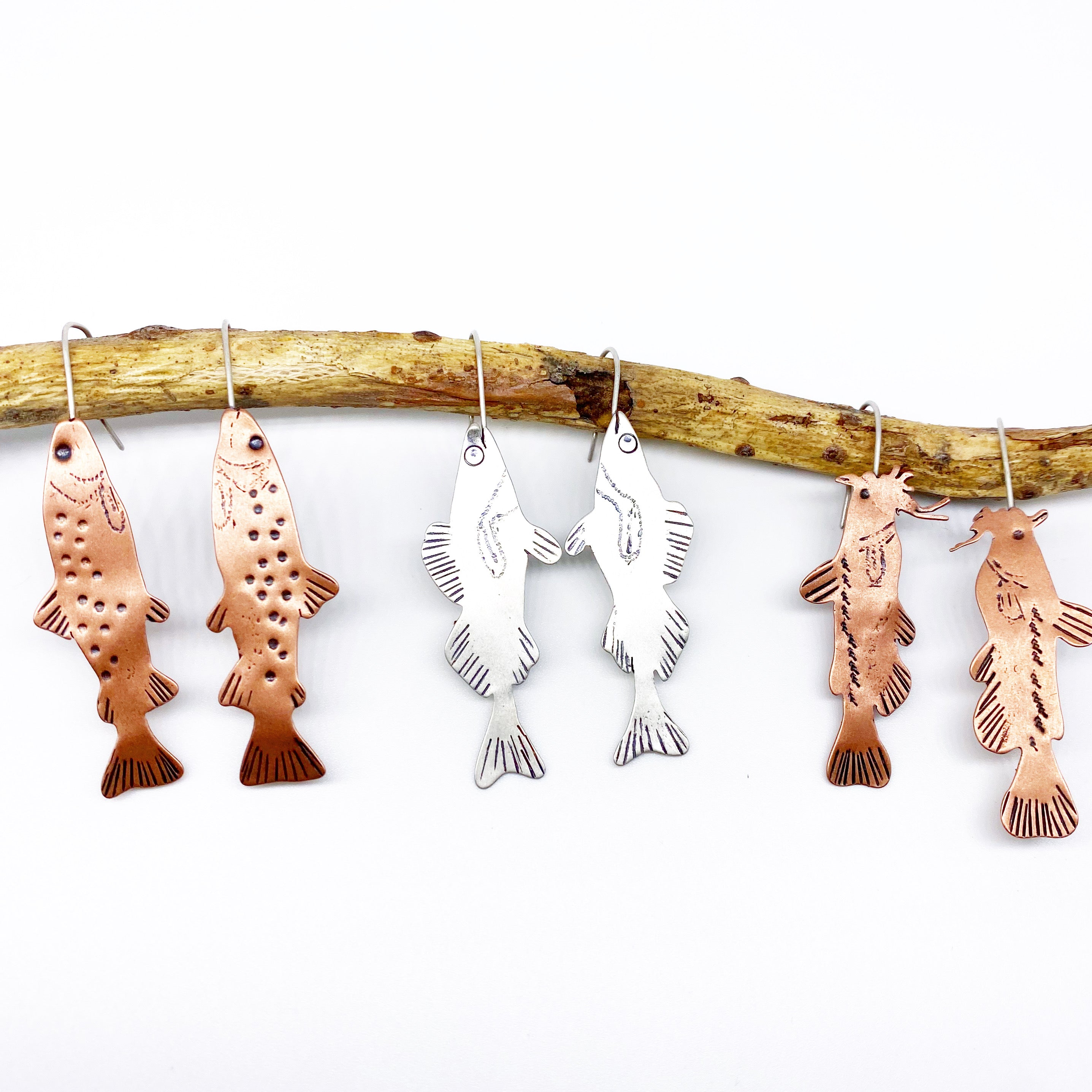Fish Dangle Earrings