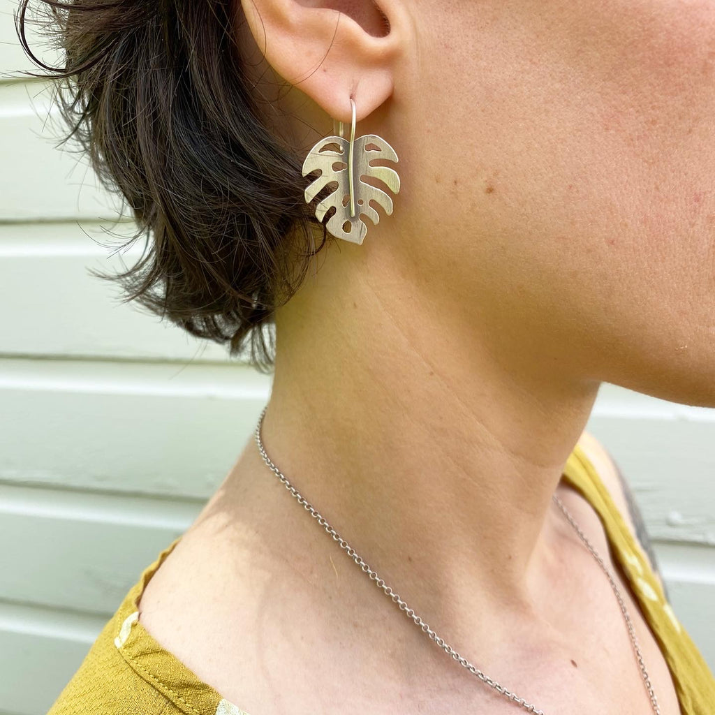 Made-To-Order Monstera Earrings