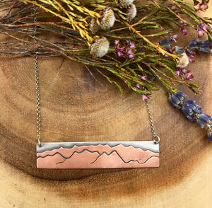 Wasatch Mountain Range Bar Necklace
