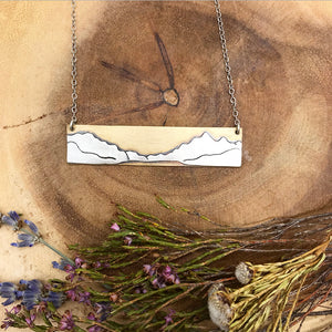 Bowman Lake Bar Necklace