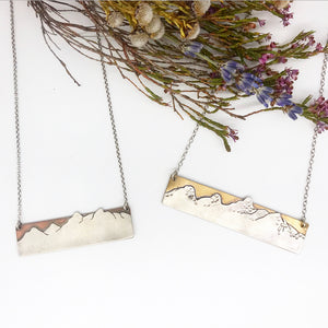 Grand Teton Bar Necklace
