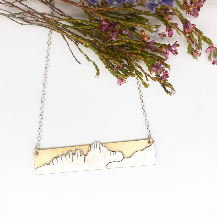 Mt. Whitney Bar Necklace