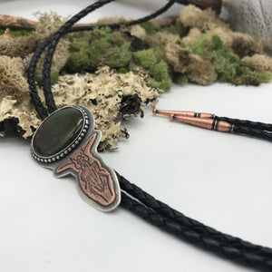 Insecta Collection: Beetles - Bloodstone Bolo Tie