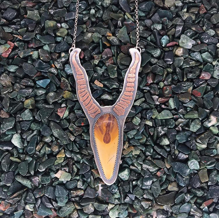 Goddess of the Desert: Skeletal Antelope Pendant