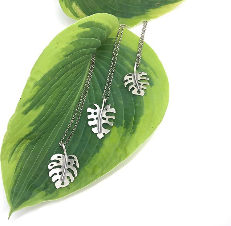 Made-To-Order Monstera Necklace