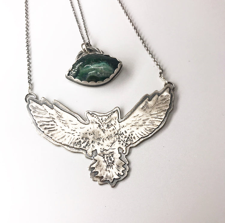 Blue Ridge: Great Horned Owl Pendant
