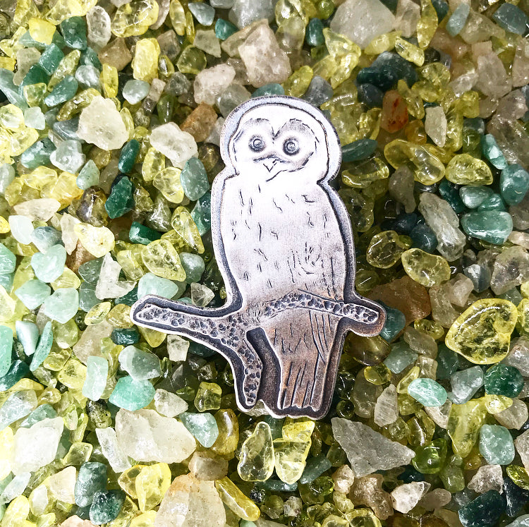 Blue Ridge: Barred Owl Hair Pin