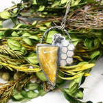 Pollinator Collection: Bumblee Jasper Bee Pendant