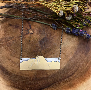 Half Dome Bar Necklace