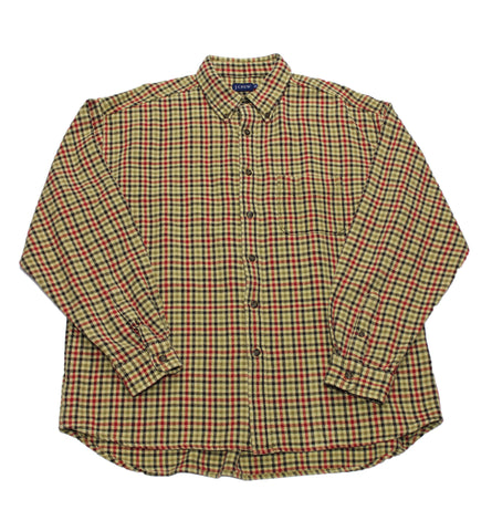 Vintage J.Crew Houndstooth Plaid Button Down Shirt Mens Size XL