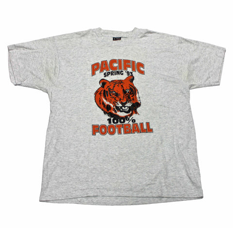 Vintage Pacific 100% Football Spring 1993 Tiger Shirt Made in USA Mens Size Large