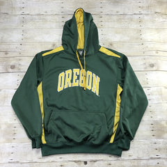 University of Oregon Green/Yellow Hooded Sweatshirt Mens Size Medium