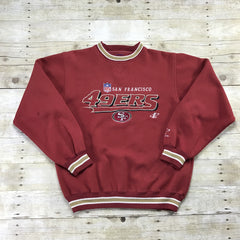 Vintage 90s Logo Athletic San Francisco 49ers Red Crewneck Sweatshirt Mens Size Medium