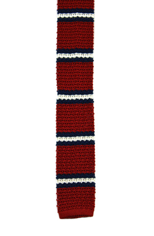 Vintage Polo by Ralph Square End Silk Necktie in Red/White/Blue