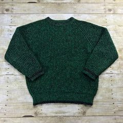Vintage 80s Green Wool Blend Sweater Mens Size Large