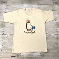 Vintage 1984 The Washington Post Bloom County Opus The Penguin Lust T-Shirt Made in USA Mens Size Small