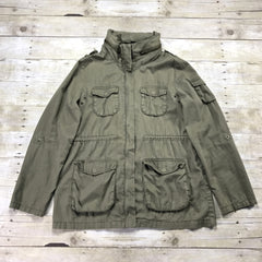 H&M Army Green 5-Pocket Jacket Womens Size 10