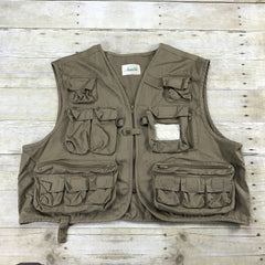 Vintage 90s 13 Pocket Brown Hunting Vest Mens Size XL