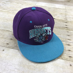New Era Hardwood Classics Charlotte Hornets Purple Wool Blend Snapback Hat