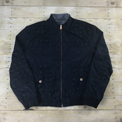 Tommy Hilfiger Navy Blue Paisley Reversible Jacket Mens Size Large