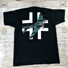 VERY RARE Vintage 90s WWII Heinkel He III German Medium Bomber Aircraft Shirt Made in USA Mens Size XL