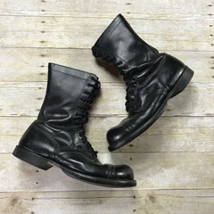Vintage 1960s Corcoran Inc. US Military Cap Toe Black Leather Paratrooper Boots Mens Size 11 1/2 W