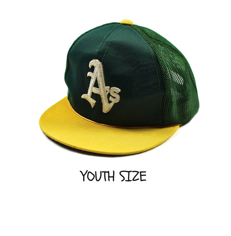 Vintage 1980s Oakland A's Hat YOUTH SIZE 3-6 Years