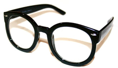 "Vintage Style ""Bernard"" Glasses in Black"