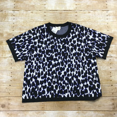 Kate Spade New York Leopard Jacquard Sweater Womens Size XL Retail $298