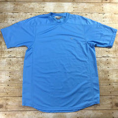 NIKE North Carolina Blue Polyester Gym Workout Sportswear Shirt Mens Size Large
