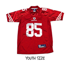 Reebok Sewn On Field San Francisco 49ers #85 Vernon Davis NFL Jersey YOUTH Size Small