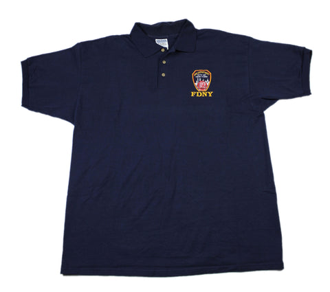 FDNY Fire Department of New York Polo Shirt Mens Size XL